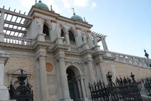 the entrance of the restored Varkert Bazaar...