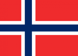 The Norwegian flag. It is clear of Eiric Magnusson's golden lion, ex and crown.