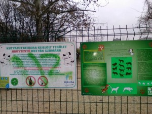 "Dogs and owners need to know a lot before entering a dog run you have to pass a ""dog body language test"" study material is available at the entrance. Turid Ruugas would be pretty proud"