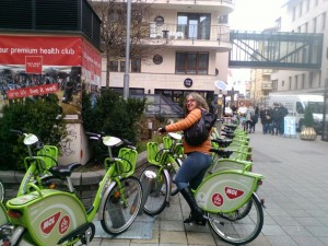 "City bikes to avoid driving around tipsy in the neighborhood (hungary has ZERO (0) alcohol tolerance for drivers of automobiles (also, Hungary has the strongest ""Drunk Drivers Against Mothers"" movement. (OK bad joke...)"