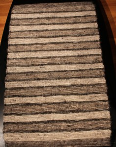 2'x3' woven natural color shetland 100% wool rug $175