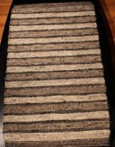2'x3' woven natural color shetland 100% wool rug $175