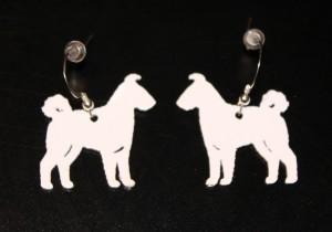 Metal White coated Pumi earrings