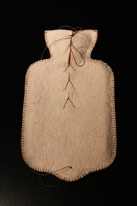 hand felted hot water bottle cover (rubber bottle included $65 (style might slightly varies