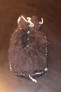 black sheepskin  hot water bottle cover (rubber bottle included) style slightly varies ($65)