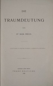 Die Traumdeutung (The Interpretation of Dreams) Cannot wait for the interpretation of  Becsi Barsony's  (Viennese Velvet) dreams. I am sure they have been about sheep...