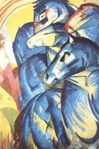 could the seven chieftains ride cubist/expressioninst blue horses...?