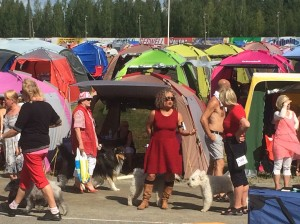 "The ""Fauvist Tent City"" at the Kuopio Exhibition Ground. It is just a wild place look at the colors"