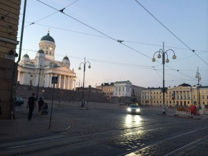 """The famous Helsinki Cathedral, """"Tuomiokirkko""""(spelling it correctly and pronounce it, should be a prerequisite for the eucharist...) on Senate Squre in the city center.  It is an evangelic Lutheran Church.  It can accommodate 1300 people.  It is the most recognizable landmark of the city."""