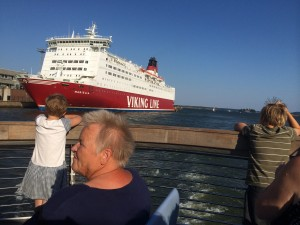 The modern day Viking raid.  Anyone can participate while dining, wining and having a good time (soon we depart to Stockholm Sweden on one of these vessels)