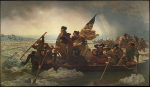Then...George Washington Crossing the Delaware