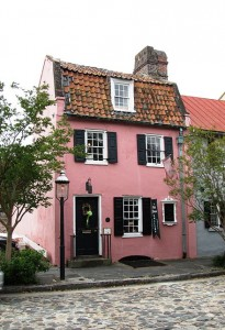 a quick peek of Charleston the Pink House...yes, the pink house...