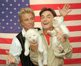 Sigfried and Roy GErman born American entertainment pop icons