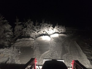 a picture of my drive way tonight  from upstate NY. What a stark contrast to the Florida sunshine