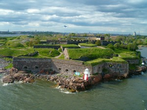The walls of the fortress from the sea