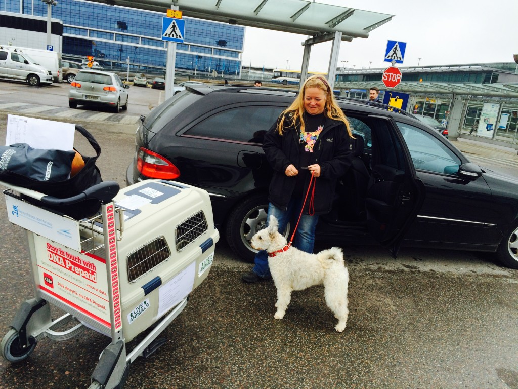 Marja-Leena was waiting for us at the Helsinki Airport.  It was so good to see her again.