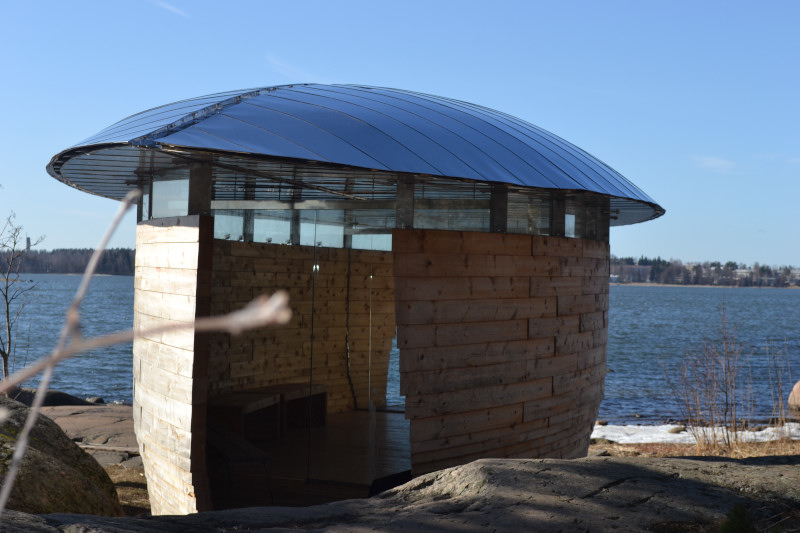 The meditation house at the lake near by...