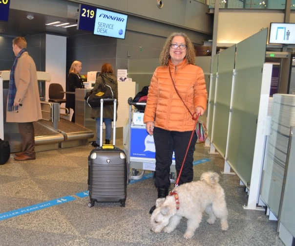 Agyag plans to sign up with FinnAir as a sniff sniff dog (we might fly free next year...?)