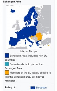 Countries covered by the Schengen Agreement