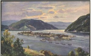 The Ada Kaleh, the tiny Turkish island on the Romanian section of the Danube River was sank to give way to the hydroelectric power plant on the Danube. a 300 year old thriving ethnic culture was eliminated in the name of progress